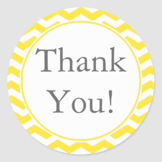 Custom Yellow Thank You Sticker and Favor Label