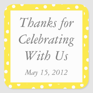 Custom Yellow Thank You Stickers and Favor Labels