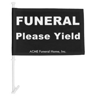 Custom Yield Standard Funeral Flag