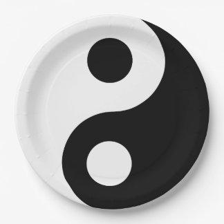 Custom Yin Yang Paper Plate