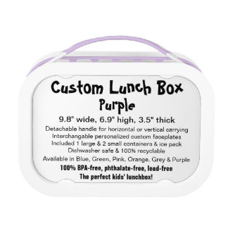 Custom yobo Lunch Box - PURPLE