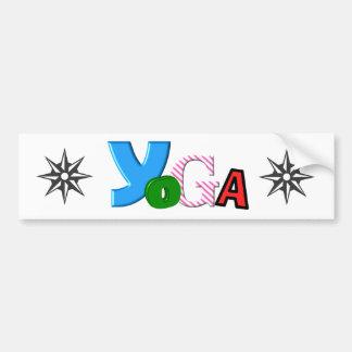 Custom Yoga Bumper Sticker