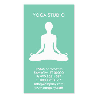 custom yoga studio Double-Sided standard business cards (Pack of 100)