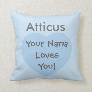 Custom You are Loved (blue) Pillow with message