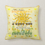 "Custom You are My Sunshine Throw Pillow<br><div class=""desc"">Customize this pretty you are my sunshine pillow to make a gift they&#39;ll treasure. Great gift for wives,  husbands,  girlfriends,  boyfriends,  children,  parents,  friends and more. See other gifts at zazzle.com/HeartsOnEverything</div>"