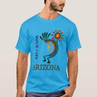 Custom Your City Arizona Kokopelli with Sun T-Shirt