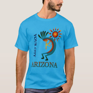 Custom Your City Arizona Kokopelli with Sun T-Shirt