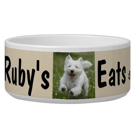 Custom Your Dog's Photo & Name Personalize Bowl