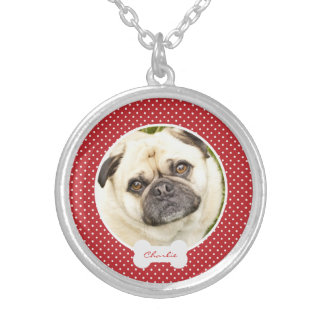 Custom your dogs photo personalized name necklace