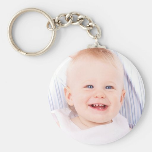 Custom your photo baby girl personalized keychain