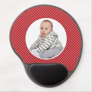 Custom your photo cute baby & polka dots mousepad gel mouse pad