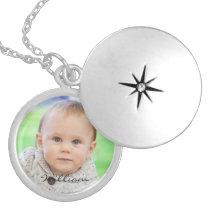 Custom your photo personalized baby name locket