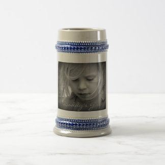 Custom your photo personalized daddys girl, gift beer stein