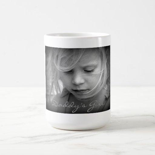 Custom your photo personalized daddys girl, gift classic white coffee mug