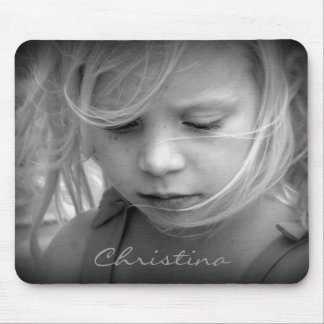Custom your photo personalized girls name, gift mouse pad