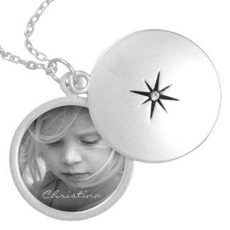 Custom your photo personalized girls name locket