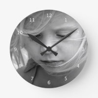 Custom your photo personalized wall clock, gift round clock