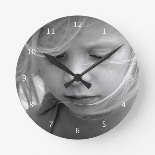 Custom your photo personalized wall clock gift round clock