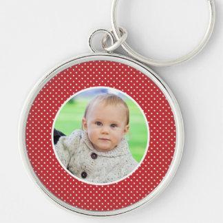 Custom your photo polka dots keychain