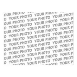 Custom your text, image & background color postcard