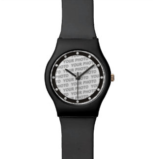 Custom your text, image & background color wrist watches