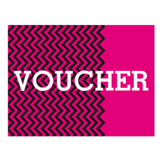 Custom your voucher with text, sign, image & back postcard