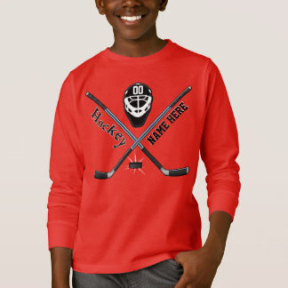 Custom Youth Hockey Sweatshirts YOUR NAME, NUMBER