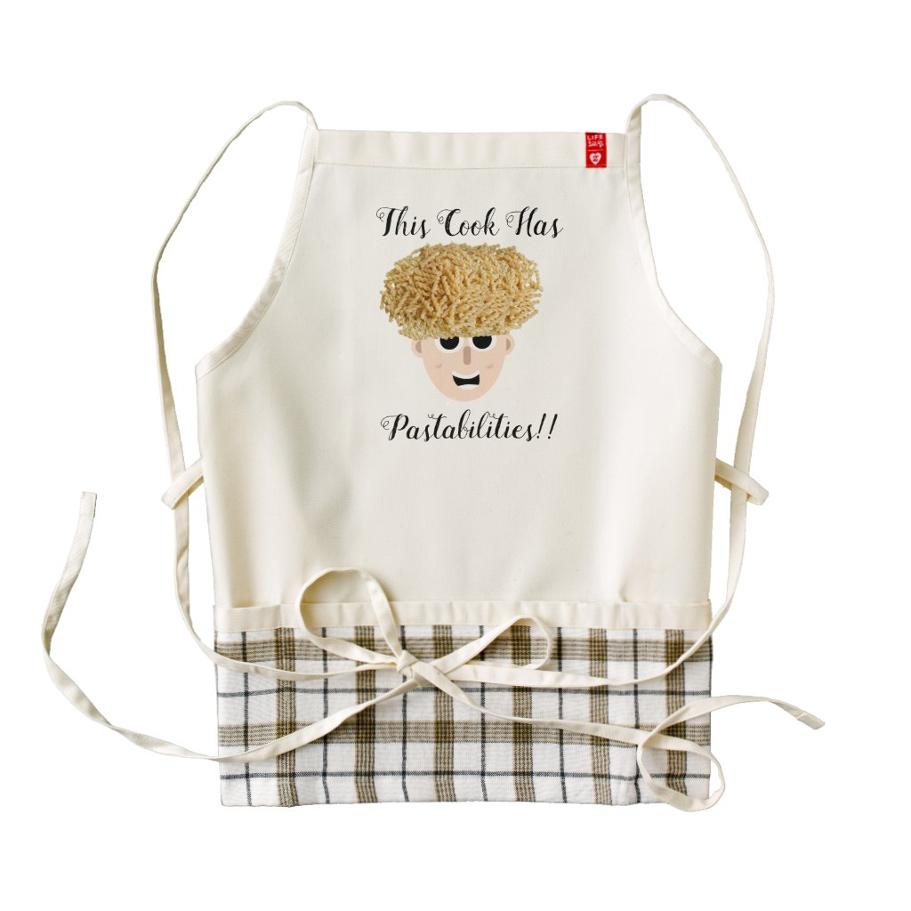 Custom Zazzle Heart Apron Cook Pastabilities