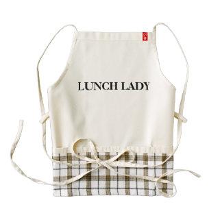 "Custom Zazzle HEART Apron ""Lunch Lady"""