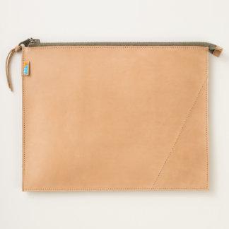 Custom Zazzle Heart Leather Travel Pouch