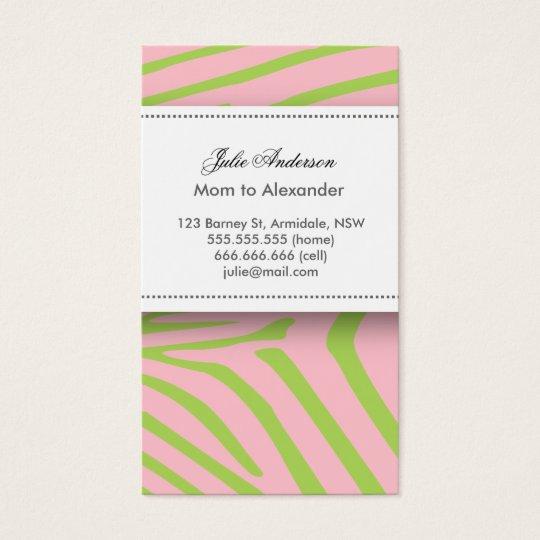 Custom zebra mommy card