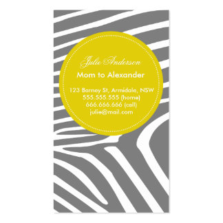 Custom zebra mommy card Double-Sided standard business cards (Pack of 100)
