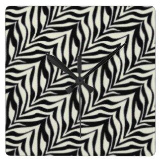 Custom Zebra Print Wall Clock