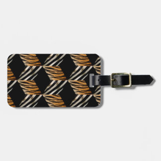 Custom Zebra Tiger Luggage Tag