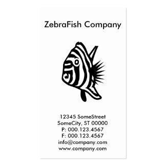 custom zebrafish company business card