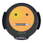 Custom Zip It Happy Face Smiley LED Window Decal