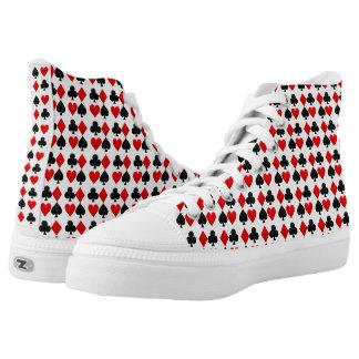 Custom Zipz High Top Poker Shoes,