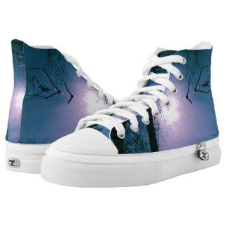 Custom Zipz High Top Shoes, Refraction