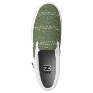 Custom Zipz Slip On Shoes, Dusty Olive