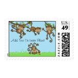 Custom Zoo Animals Monkey Around Postage Stamps