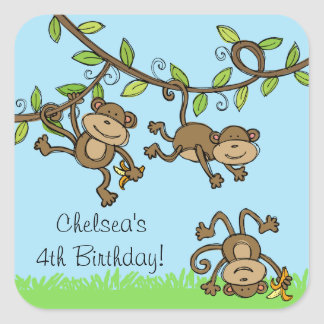 Custom Zoo Animals Monkey Around Stickers