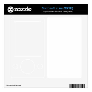 Custom Zune 30Gb Skin Decals For Zune