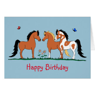 Custome Horse Pals Birthday Card