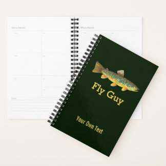Custome Trout Fly Fishing Fisherman's Planner