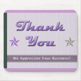 Customer Appreciation Purple Stars and Stripes Mouse Pad