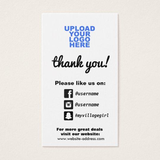 Customer appreciation social media icons business card zazzle customer appreciation social media icons business card colourmoves