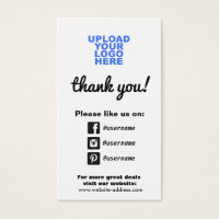 Facebook business cards templates zazzle facebook business cards customer appreciation social media icons reheart Images