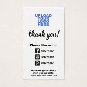 Facebook business cards templates zazzle customer appreciation social media icons business card accmission Image collections