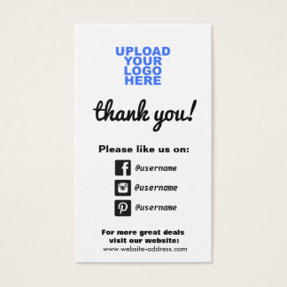 Customer Appreciation Social Media Icons Business Card