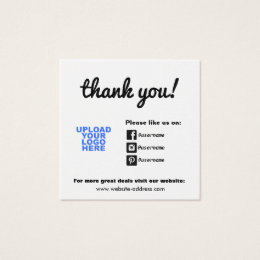 Facebook logo business cards templates zazzle customer appreciation social media icons square business card colourmoves